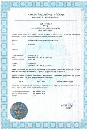 Certifikát-NBU